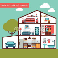 vector house interior vector art thinkstock