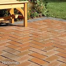 Concrete Patio With Pavers How To Cover A Concrete Patio With Pavers Family Handyman