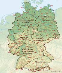 map of regions of germany regions of germany simple the free