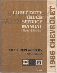 1986 chevy truck repair shop manual original pickup blazer