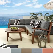 Patio Furniture Nashville by Yasawa Modern Brown Outdoor Cushioned Wood Sectional By Napa