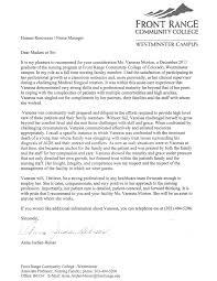nursing job letter of recommendation