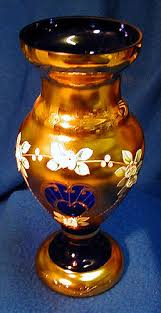 Bohemian Vase Bohemian Crystal Cobalt Blue Vase For Sale Antiques Com