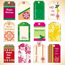 exquisite christmas labels vector free vector 4vector