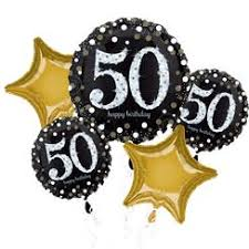 50th birthday balloon delivery 50th birthday balloons foil numbers party delights