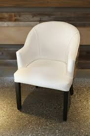 Shop Dining Chairs White Faux Leather Burlap Dining Chair Kitchen Shop