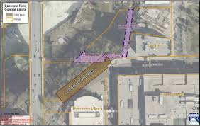 Property Lines Map Downtown Spokane Construction