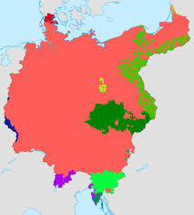map in language greater germany language map by lehnaru on deviantart