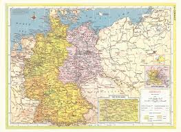 Maps Of Germany by 1957 Map Of Germany Showing Allied Occupation Zones And Pre War