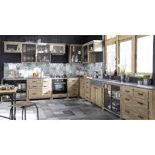 cuisines maison du monde meuble bas vitré de cuisine en pin recyclé meuble bas de cuisine