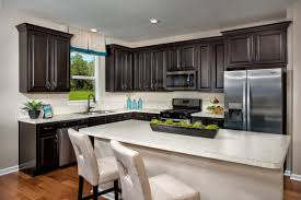 Black And White Laminate Floor Kitchen Black Wall Cabinet Storage White Kitchen Island 2 Chairs