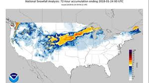 Snow Coverage Map United States Snowfall Map Record And Average Dates Of Late Season