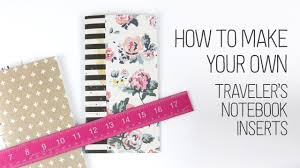 pattern play notebooks how to make your own traveler s notebooks inserts youtube