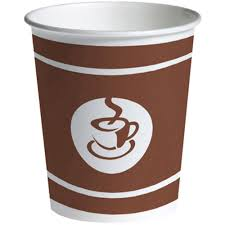 Cup Design by Staples Cold Brown Design Print Paper Cup 200 Ml 8 Oz