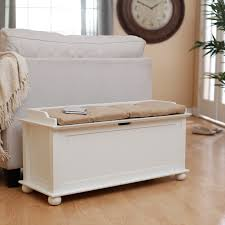 White Storage Benches For Bedroom Bathroom Indoor Benches Indoor Storage Benches Hayneedle Bedroom