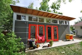 guest and art studio with garage studio shed lifestyle modern