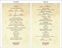 classic wedding programs anslie s the and groom 39s at kate