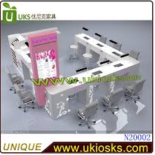 attractive nail kiosk nail salon furniture with manicure table for