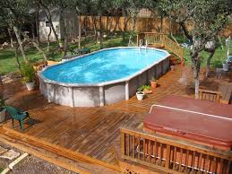 decks for above ground pools pool traditional with backyard pool