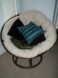 Pier One Pillows And Cushions Furniture Dark Rattan Frame Papasan Couch With White Cushions And