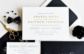 black and gold wedding invitations auric wedding invitation black gold letterpress and foil by