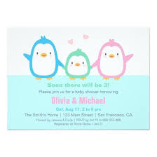 penguin baby shower colourful penguin baby shower invitations invitations 4 u