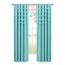 Ruffle Bottom Blackout Panel by Home Decorators Collection Spring Blue Garden Gate Back Tab