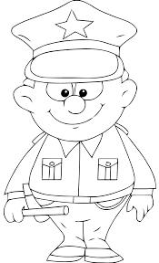 coloriage police les beaux dessins de personnages à imprimer et