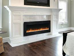 Recessed Electric Fireplace Electric Fireplace Built Wall Mount Bookshelves Average Cost To
