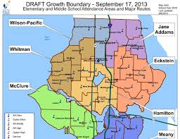 seattle map by district school district boundary changes families for lake city