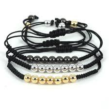 bead bracelet european images Brand new bracelets gold color 7 ball beads braided macrame jpg