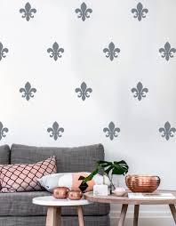 online buy wholesale floral wall decals from china floral wall floral fleur de lis wall decal french style art pattern vinyl wall sticker modern nursery