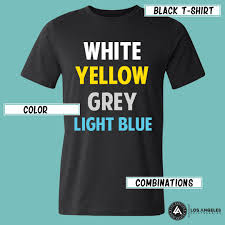 color combination with black choosing the right t shirt color for printing and branding