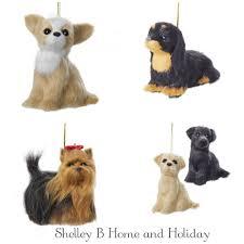 christmas ornaments animal christmas ornaments furry dog