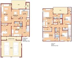 4 Bedroom Townhouse Floor Plans Woodlawn Village E1 E9 E9 O1 O5 W1 W4 The Villages At Belvoir
