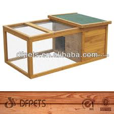 small wooden bunny rabbit hutch guinea pig house chicken coop with