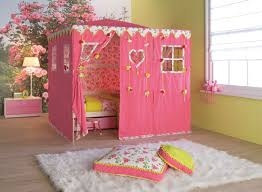 Canopy Bed Curtains For Girls Furniture Toodler White Canopy Bed With White Curtain On Brown
