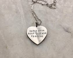 Customized Heart Necklace Engraved Heart