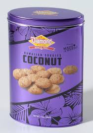 coconut cookies tin made in hawaii bakery