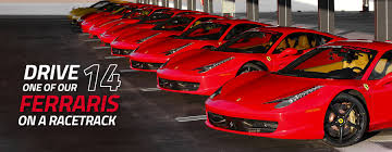 pictures of ferraris drive a on a racetrack in las vegas or los angeles