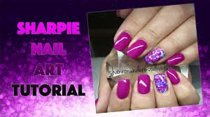 gelish and sharpie pen nail art watch me work youtube