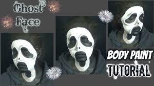ghost face scream mask scream mask face paint makeup tutorial noblandmakeup youtube