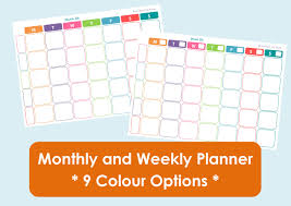 printable calendar 2016 etsy printable weekly family planner and monthly calendar 9