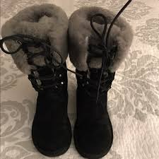 ugg boots sale size 6 62 ugg shoes sale blackuggw grey fur metal heel