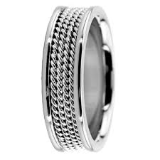 mens comfort fit wedding bands handmade 950 platinum rope mens wedding ring comfort fit band