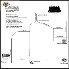 Map To Home Map To Event Venue Cottonwood Canyon Bozeman Montana