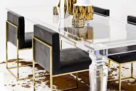 palm beach lucite dining table modshop