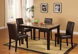 Granite Dining Room Tables Faux Marble Top Dining Table Set Amazoncom Furniture Of America