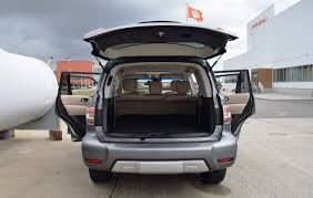 nissan armada 2017 trunk space 2017 nissan armada platinum road test review by tim esterdahl
