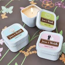 wedding favors personalized mini square personalized candle wedding favors